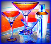 Martini Shaker Photos - Cosmo Poolitans by Randall Weidner
