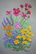 Cosmos Pastels - Cosmos Bouquet by Collette Hurst