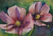 Cosmos Painting Framed Prints - Cosmos Framed Print by Gretchen Bjornson