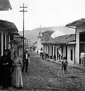 Costa Prints - Costa Rica - Village Street Scene - c 1905 Print by International  Images