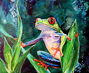 Costa Rica Tree Frog Print by  Angel Egle Wierenga
