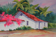 Costa Prints - Costa Rican cottage Print by Chuck Creasy