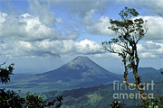Lush Green Framed Prints - Costa Ricas Arenal Volcano Framed Print by Greg Dimijian