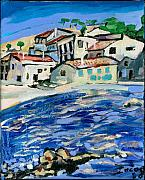 St.tropez Paintings - Cote D Azur by Henry Beer