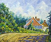 Country Painting Originals - Cote Ste Anne de Beaupre by Richard T Pranke