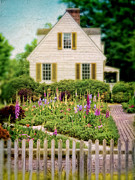 Charming Cottage Framed Prints - Cottage and Garden Framed Print by Jill Battaglia