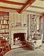 Antique Books Prints - Cottage Comfort Print by Marcie Adams Eastmans Studio Photography