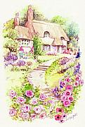 Country Cottage Prints - Cottage Garden Print by Morgan Fitzsimons