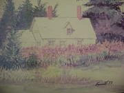 Ev-in Originals - Cottage In Maine by Everett Hickam