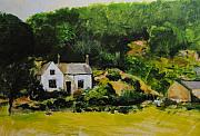 Wales Drawings - Cottage in Wales by Harry Robertson