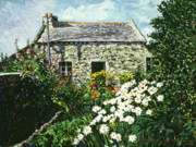 Stone Cottage Paintings - Cottage of Stone by David Lloyd Glover