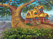 Lorn Tree Art - Cottage on a Branch from Arboregal by Dumitru Sandru