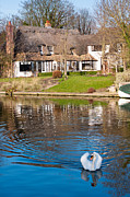 Fen Ditton Framed Prints - Cottage On The River Framed Print by Andrew  Michael