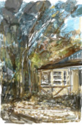 Southern California Digital Art - Cottage by Russell Pierce