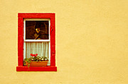 Geranium Photos - Cottage window by Tom Gowanlock