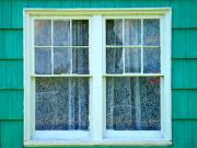 Hung Prints - Cottage Windows Print by Mg Rhoades