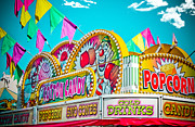 Cotton Candy Prints - Cotton Candy Carnival Food Vendor BOLD COLOR Print by Eye Shutter To Think
