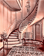 Old Heater Photo Posters - Cotton Candy Staircase Poster by Marcie Adams Eastmans Studio Photography