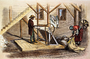 Cotton Gin Posters - Cotton Gin, 1871 Poster by Granger