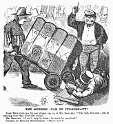 Pushcart Posters - Cotton Loan Cartoon, 1865 Poster by Granger