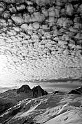 Chamonix Framed Prints - Cotton sky Chamonix France Framed Print by Pierre Leclerc
