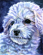 Puppies Paintings - Cotton Top by Lyn Cook