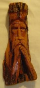 Bark Sculptures - Cottonwood Bark  Wood Spirit by Russell Ellingsworth
