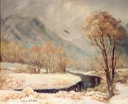 Cottonwood Paintings - Cottonwood Winter by JoAnne Corpany