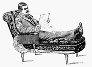 Smoker Framed Prints - COUCH, c1885 Framed Print by Granger