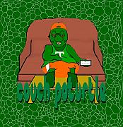 Cartoon Prints - Couch Poturtle Print by Pharris Art
