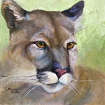 Puma Paintings - Cougar 2 by Bonnie Rinier
