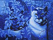 Mountain Lion Paintings - Cougar by Bonnie Kelso