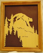 Scroll Saw Posters - Cougar on Prowl Poster by Russell Ellingsworth