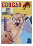 John Keaton Drawings - Cougar -Visualisation by John Keaton