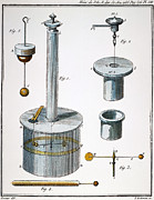 Physicist Framed Prints - COULOMB APPARATUS, 1780s Framed Print by Granger