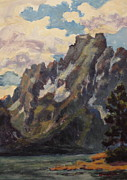 Teton Paintings - Coulter Bay by Patricia A Griffin
