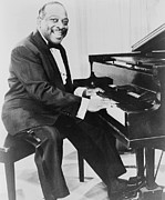Jazz Pianist Framed Prints - Count Basie 1904-1984, African American Framed Print by Everett