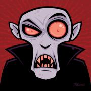 Cartoon Digital Art - Count Dracula by John Schwegel