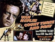 1955 Movies Photo Framed Prints - Count Three And Pray, Van Heflin Framed Print by Everett