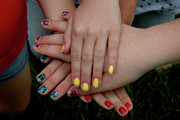 Painted Nails Posters - Count us in Poster by LeeAnn McLaneGoetz McLaneGoetzStudioLLCcom