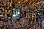 Grocery Store Prints - COUNTER of OLD WEST GENERAL STORE - MONTANA Print by Daniel Hagerman