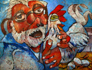 Reductionism Prints Painting Originals - Counting Chickens by Charlie Spear