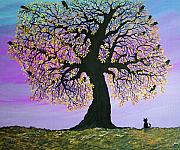 """tree Art"" Paintings - Counting Crowes by Nick Gustafson"
