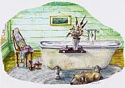 Relax Paintings - Country Bath by Eve McCauley