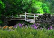 Country Bridge Print by Lori Deiter