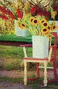 Folksy Prints - Country Chair Print by Laura Greene