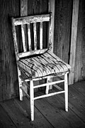 Old Chair Posters - Country Chair Poster by Patrick M Lynch