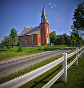 Country Church Prints - Country Church Color Print by Brian Mollenkopf