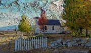 Autumn Landscape Mixed Media - Country Church by Irina Hays