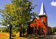 Country Church Prints - Country Church Print by Kathy Jennings